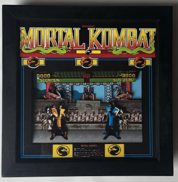 MORTAL KOMBAT Arcade Screen  3D Diorama Shadow Box